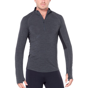 Icebreaker 200 Zone LS Half-Zip Shirt Herren jet heather/black